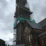 Tall Scaffolding for church spire restoration