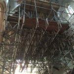 Indoor church Scaffolding for restoration